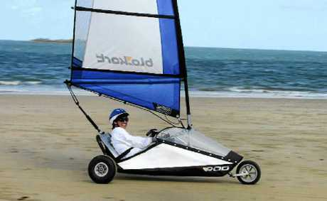 Wendy Dempster is set for her first blokart race at Cape Hillsborough this weekend.