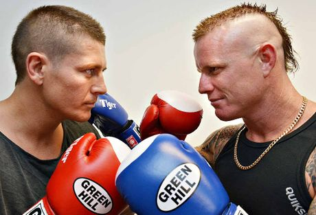 FIGHT NIGHT: Mackay boxers Andrew Keogh (left) and Billy 'The Kid' Degoumois will shape up at the MECC tonight.