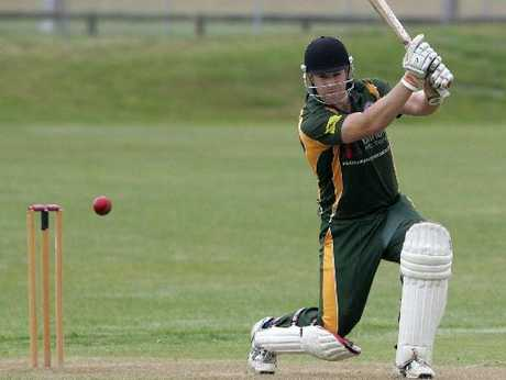 Mt Maunganui batsman Mark Divehall crashes a boundary against Te Puke last weekend. Photo / Chris Callinan