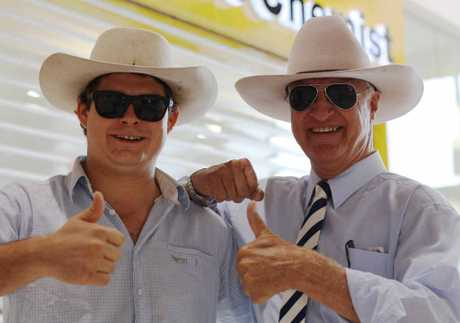 THE KAT IN THE HAT: Hanging out with Bob Katter as he drums up support for his local candidate in the 2012 Queensland election.