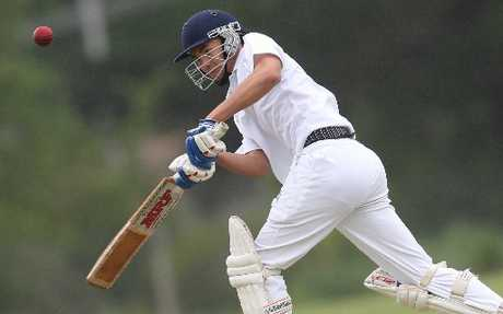 HIT AND RUN: John Paul College batsman Marc Rigter will need to show some of this form when they take on Geyser City today at Ray Boord Park.