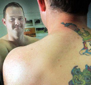 NEW ZEALAND MADE: Daniel McKechnie and his Kiwiana tattoo.
