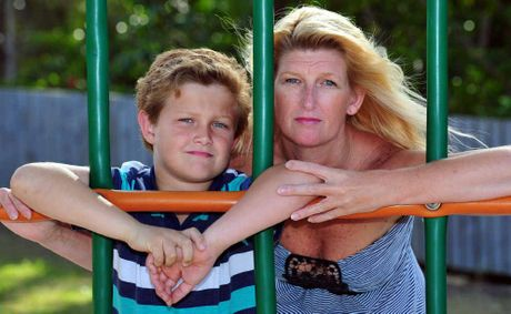 SHE WANTS AN INVESTIGATION: Vicki Adams with her son Sean who has autism.