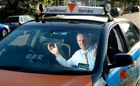REAL OPPORTUNITY: Mayor Paul Pisasale is wondering where all the taxi drivers are in Ipswich, with 15 jobs up for grabs at Yellow Cabs.