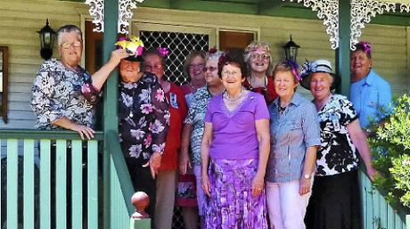 GIRL POWER: Victoria Hill QCWA members prepare to party for Melbourne Cup day.