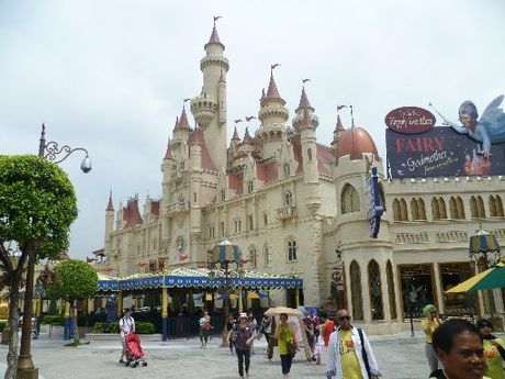 SHREK STYLE: Universal Studios Singapore boasts the world's first Far Far Away Castle.