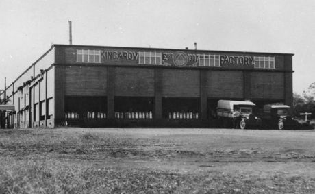 EARLY PRODUCTION FACILITIES: The butter factory at Kingaroy was established in 1907. Photo John Oxley Library