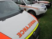 A MAN riding a motorbike was injured in a traffic accident at Lowood on Wednesday.