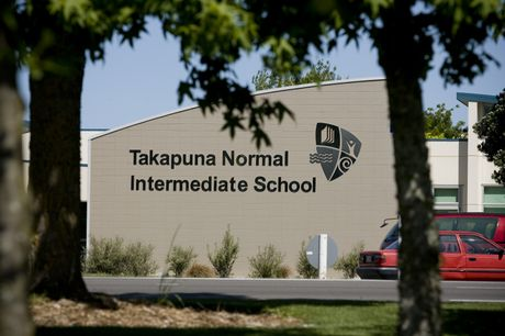 Takapuna Normal Intermediate school staff have suggested to students that they keep hugs for outside of school.