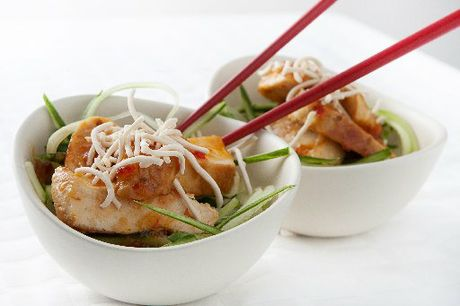 Thai Chicken with Cucumber Noodles