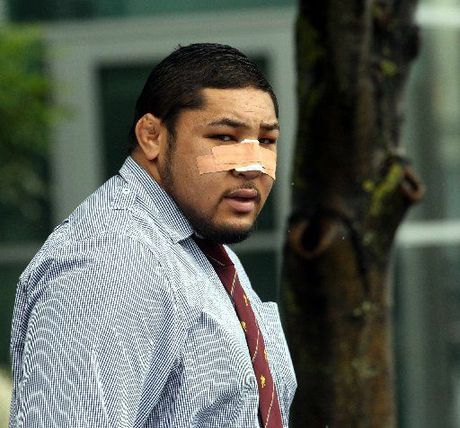 DIFFICULT YEAR: Ben Tameifuna pictured leaving Hastings District Court.