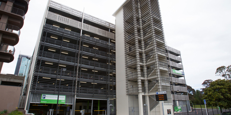 The controversial $14m parking building.