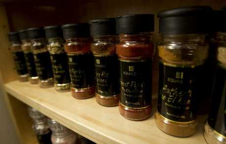 Spices in glass jars appeal to more people. 