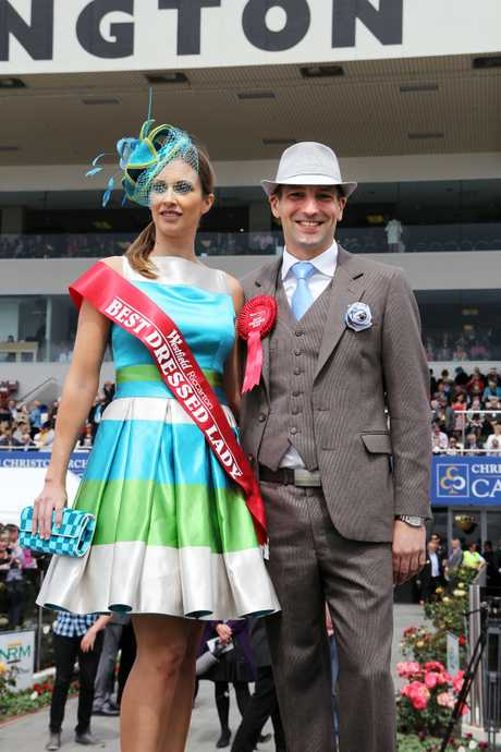 GLAD RAGS: Winners of the best dressed competitions Andrea Bryant and Gareth Hide.