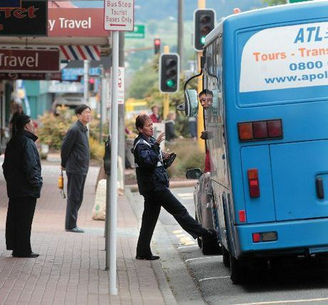 BUS ISSUES: Tourist buses in Amohau St are causing problems for some local businesses.