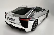 The Lexus LFA in chrome.