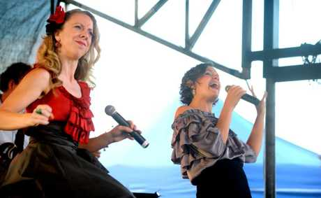 Performers at last year's Coolangatta Christmas carols event.