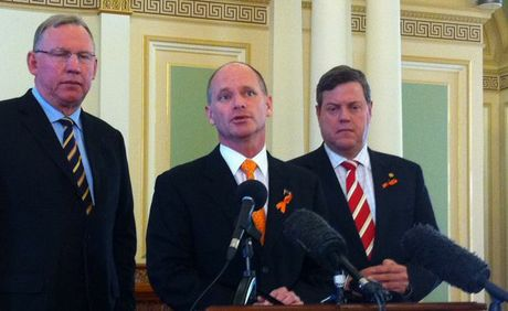 "Queensland Premier Campbell Newman said Bruce Flegg's decision to resign as Housing and Public Works Minister was the ""right thing"" to do."
