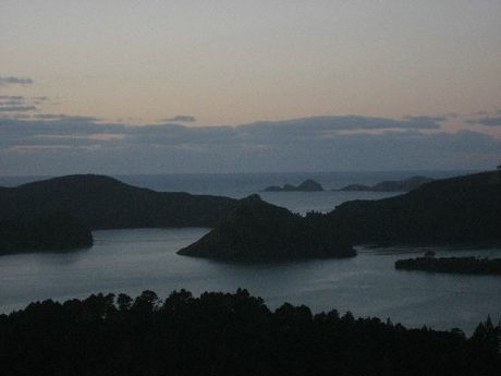 FARM SITE: The location for the proposed Whangaroa Harbour kingfish farm is just to the right of Ohauroro/Peach Island in the centre of the photo.