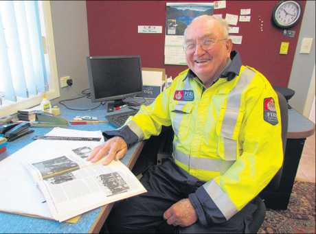Max Mackay retired from active duty at the station around five years ago and now focuses on administrative work. As treasurer/secretary he has been keeping scrapbooks on the brigade for the past 33 years and also authored The First Hundred Years of the Eltham Volunteer Fire Brigade.
