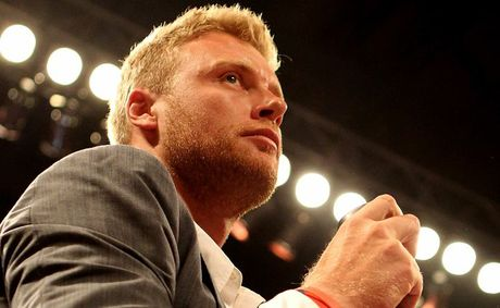 Andrew Flintoff carries the belt to the ring during the Vacant IBF Inter-Continental Super Bantam Weight Championship bout between Carl Frampton and Raul Hirales at Nottingham Capital FM Arena on May 26, 2012 in Nottingham, England. 