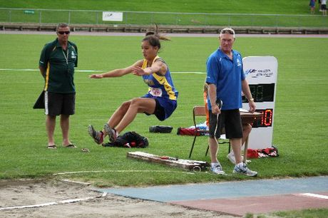 ALL-ROUNDER: Jasmine Ng competing at long jump. PHOTO/SUPPLIED