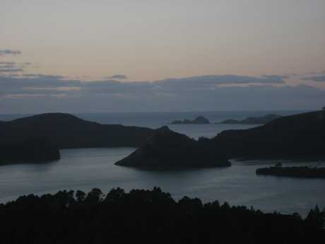 FISH FOCUS: The location for the proposed Whangaroa Harbour fish farm is just to the right of Ohauroro/Peach Island, in the centre of the photo.