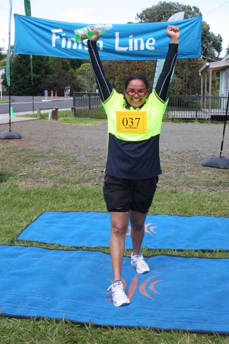 HUGE ACHIEVEMENT: Kaitaia Hospital nurse Ana Paulose celebrates completing the Wahine Tryathlon 2012.