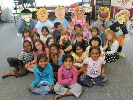 Room 19 at Knighton Normal School created six buddies for Buddy Day.