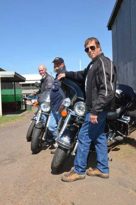 REBELS WITH A CAUSE: John Finnegan, 'Puss' Silvester and Andy Cartwright want fellow bikers to join their toy run to help bring a bit of Christmas to the kids who need it most.