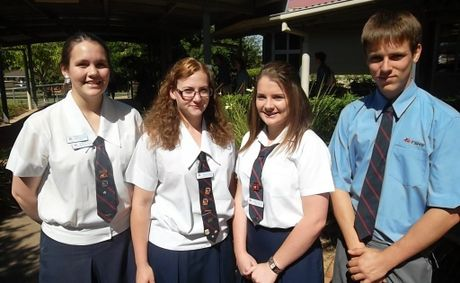 Toowoomba State High School award winners (from left) Sarah Van Tricht, Jessamyn Douglas, Brittany Barnes and Jarred Vonhoff.