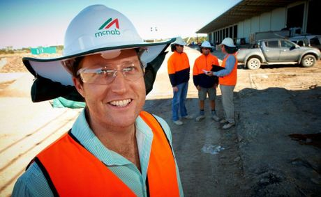 McNab regional and energy construction manager Campbell Senz is based herein Toowoomba and oversees the company's Toowoomba and Central Queensland projects.