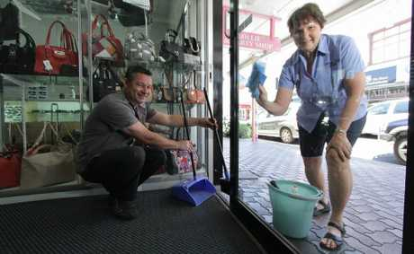 Darren Smith and Diana Collins will be participating in the Maryborough City CBD clean-up.