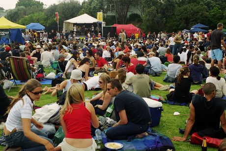 During fair weather, people usually swarm to the Grey Lynn Park Festival.