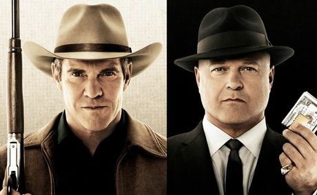 Dennis Quaid, left, and Michael Chiklis star in the TV series Vegas.