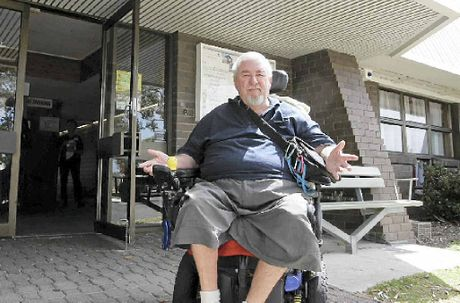 BASICS NOT COVERED: Michael Pullen cannot understand why the Coolum Civic Centre does not have a disabled-access toilet.