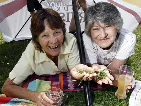 Shirley Dollimore (left) and Kathy Rzoska are convinced the grass is greener in Whangarei than it is in expensive, crowded Sydney. Photo / John Stone