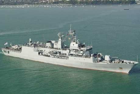 The Royal New Zealand Navy frigate Te Mana was last at Napier's port in 2005.