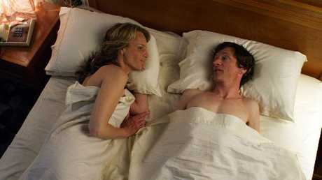 John Hawkes plays polio-sufferer Mark O'Brien, who turns to sex surrogate Cheryl (Helen Hunt) for help.