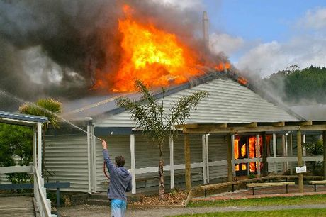 The Whangamata Area School's athletics-day fire destroyed thousands of dollars worth of technology equipment.