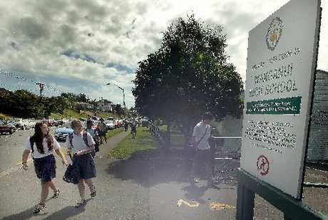 ENROLLED: Wanganui High School students head home yesterday afternoon.PHOTO/STUART MUNRO