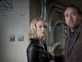 January Jones and Nicolas Cage play husband and wife Laura and Will in Seeking Justice.