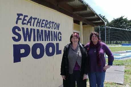 CELEBRATING: Featherston Amateur Swimming Club president Jo Johnson (left) and events co-ordinator Julie Collins are gearing up to celebrate 100 years of swimming in the district.