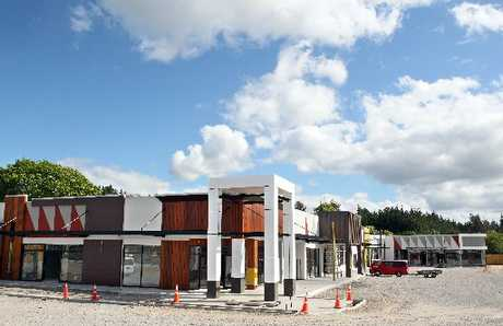 EASTSIDE SHOPPING: The new Redwood Centre at the intersection of Tarawera and Te Ngae roads, which is expected to be completed by the middle of next month.