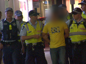 TENS of thousands of school leavers are keeping police on the Gold Coast busy during the annual Schoolies' Week celebrations.