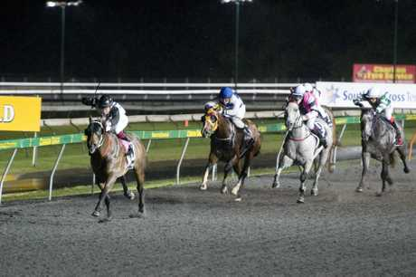 CLEAR RUN: Jockey Masayuki Abe rides Are Tee Ess to victory at Clifford Park on Saturday.