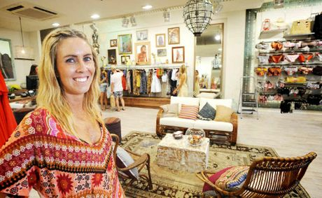 GRAND OPENING: Tigerlily national retail sales and operational manager Beth Studerus at the opening of the new Byron store.