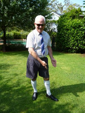 Greg Johnson wants the men of Toowoomba to unite in the campaign to bring back Bermuda socks.
