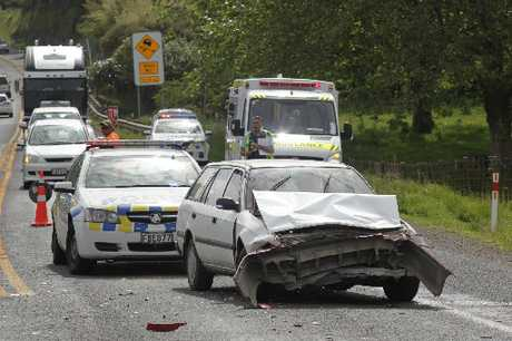 Crash on the Kaimais this morning.