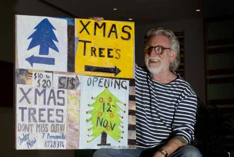 Dick Frizzell has referenced tree sales in his piece, which will be part of the advent calendar appearing in Wynyard Quarter next month.